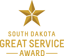 Image of South Dakota Great Service Award logo.