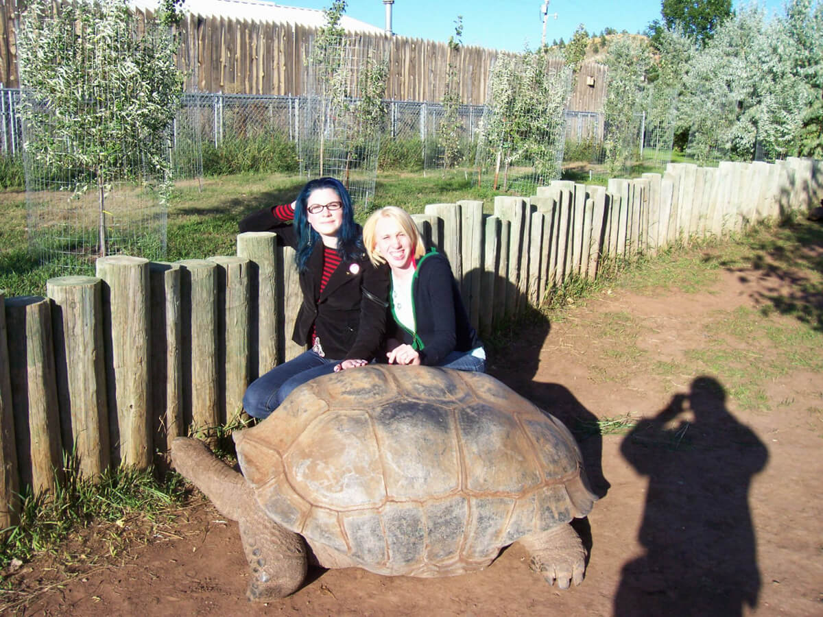 Adrienne and I- in Tortoise country